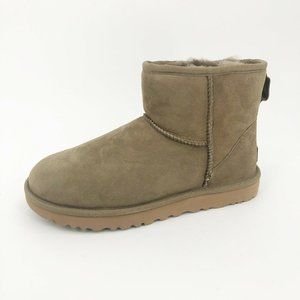 UGG Classic Mini II Boots Sand Suede Bootie Short